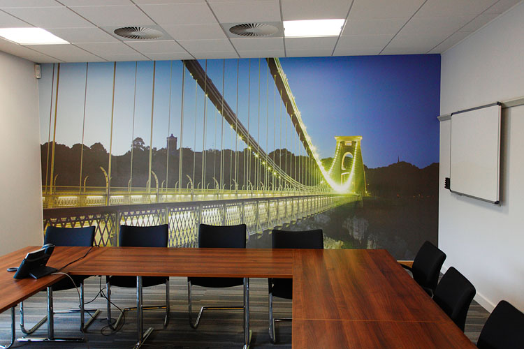 4.5 metre wide wallpaper. Also supplied three other images