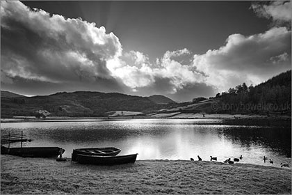 Watendlath Tarn Black and White