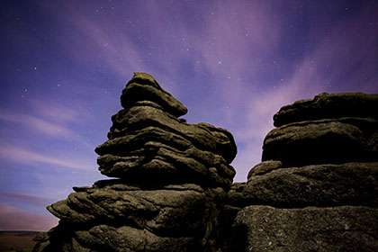 Hound Tor, Night