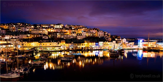 Brixham Harbour, Night