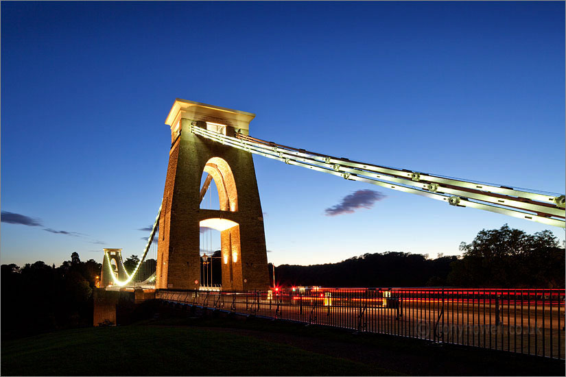 Clifton Suspension Bridge, Bristol, Dusk