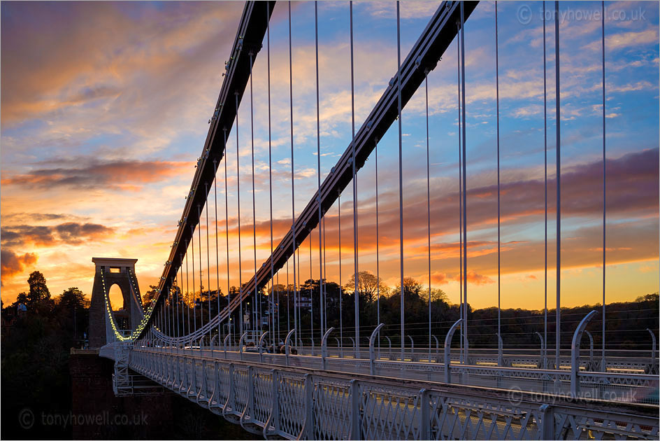 Clifton Suspension Bridge, Sunset