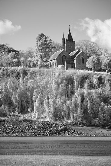 St Peters Church, Newnham on Severn (Infrared Camera, turns foliage white)