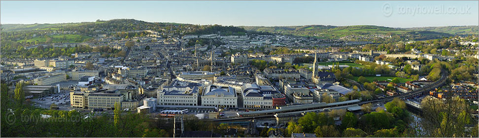 Panoramic view over Bath