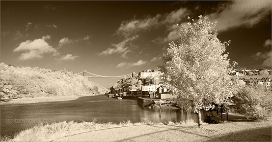 Clifton Suspension Bridge infrared