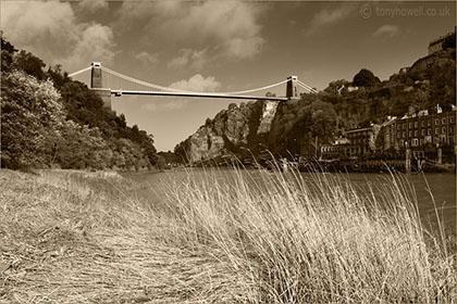 Clifton Suspension Bridge Sepia