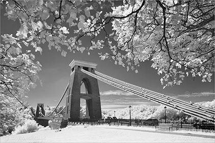Suspension Bridge Infrared