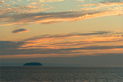 Steep Holm from Sand Bay