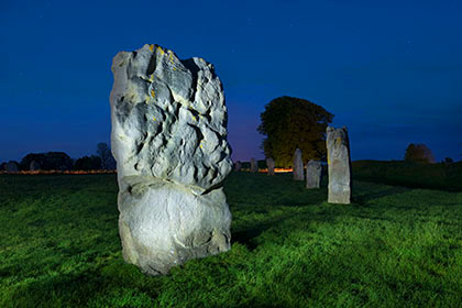 Avebury Stones Light Painting