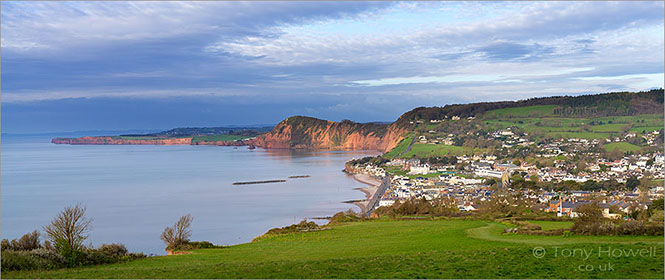 Sidmouth from Salcombe Hill