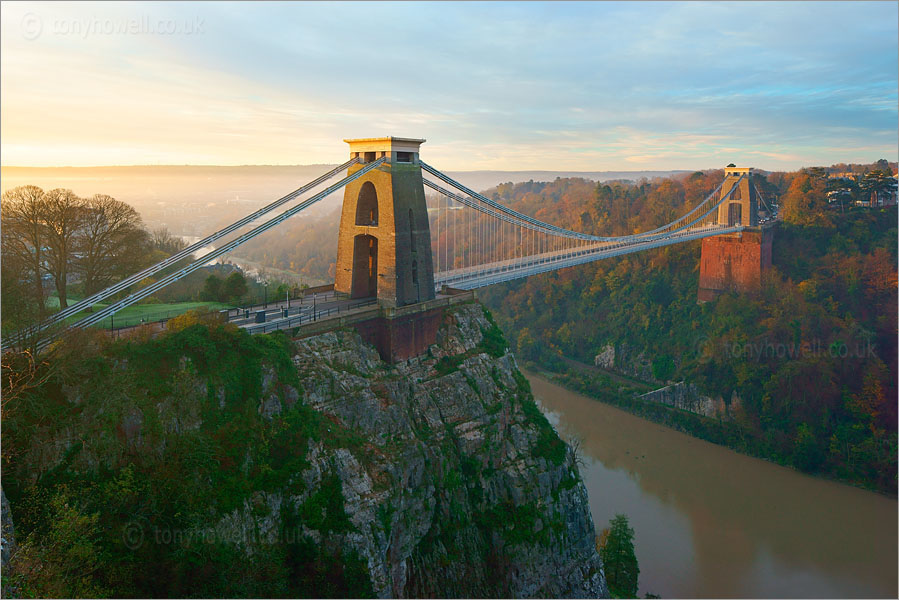 Clifton Suspension Bridge, Bristol, Dawn