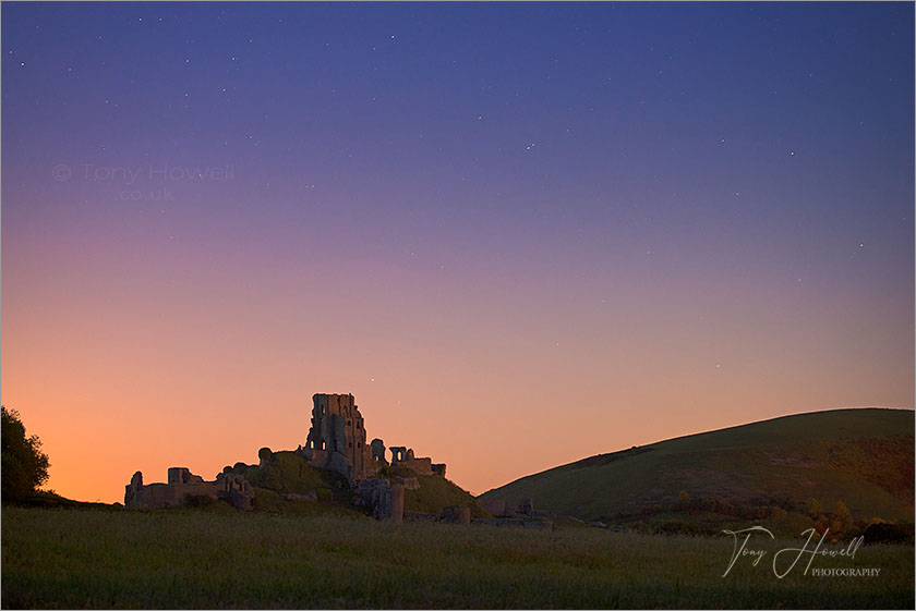 Corfe Castle Night