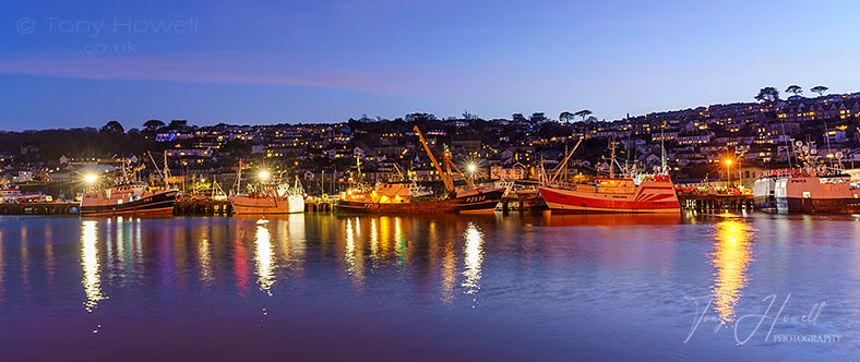 Fishing Boats, Dusk, Newlyn, Cornwall