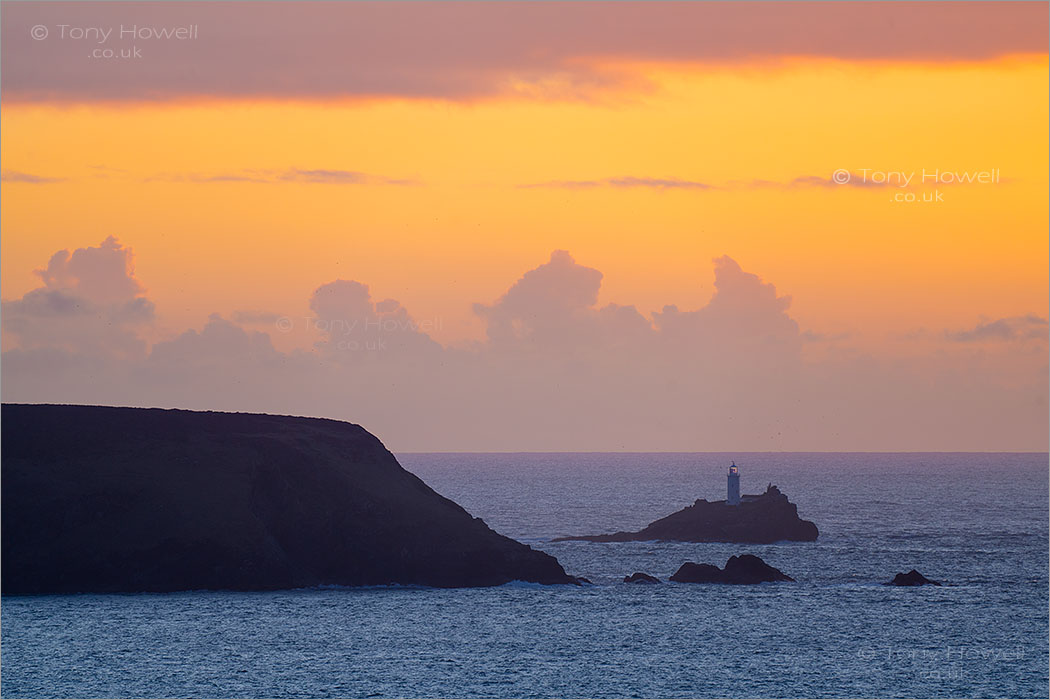 Godrevy Lighthouse, Sunset