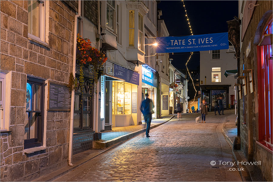 Fore Street, Night, St Ives
