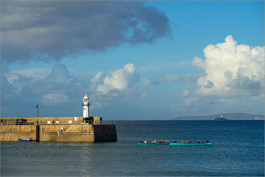 Two Lighthouses, two Gigs, St Ives and Godrevy