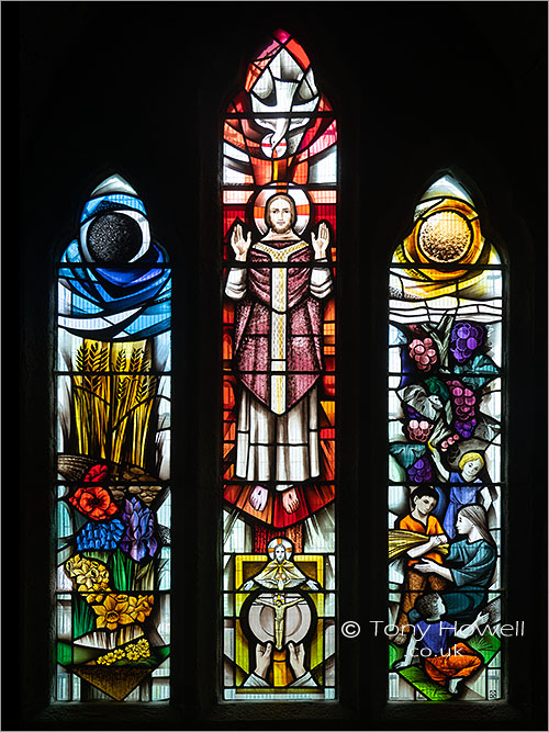 Stained Glass, St Materianas Church, Tintagel