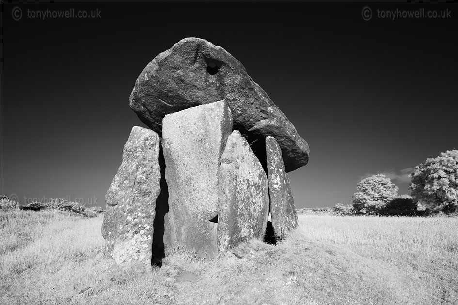 Trethevy Quoit (Infrared Camera, turns foliage white)