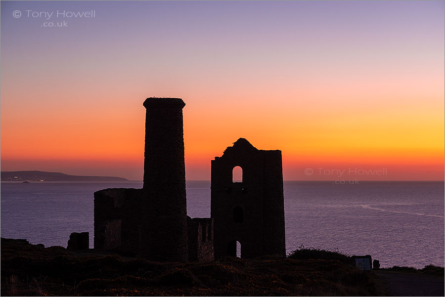 Wheal Coates Tin Mine, Sunset