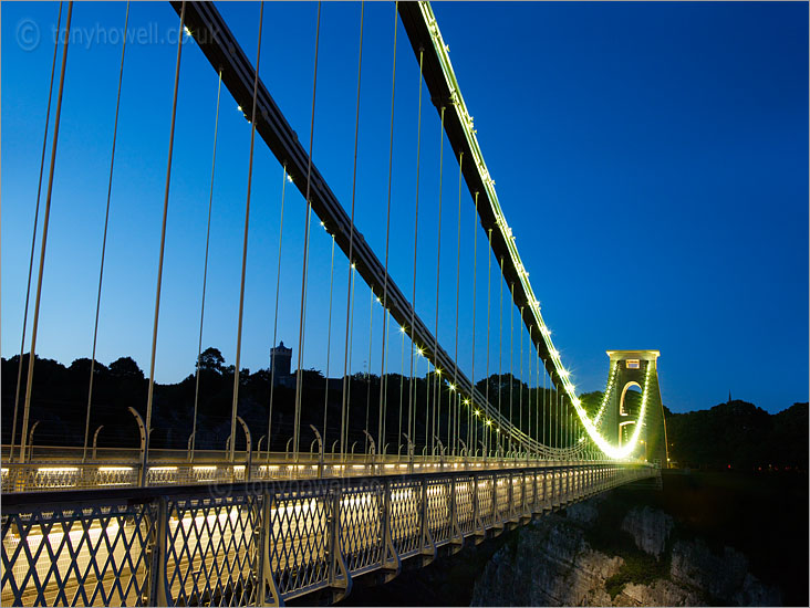 Clifton Suspension Bridge, Illuminated, Dusk