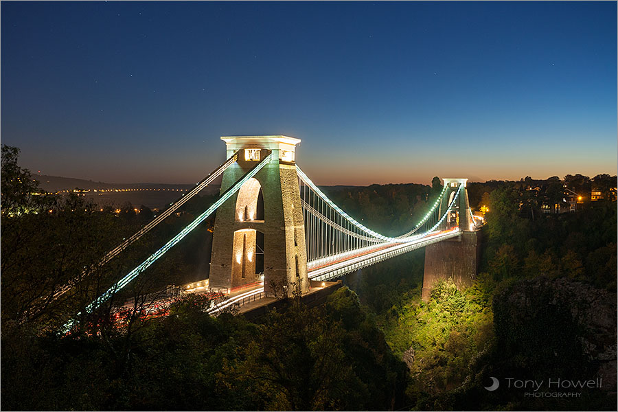 Clifton Suspension Bridge, Night