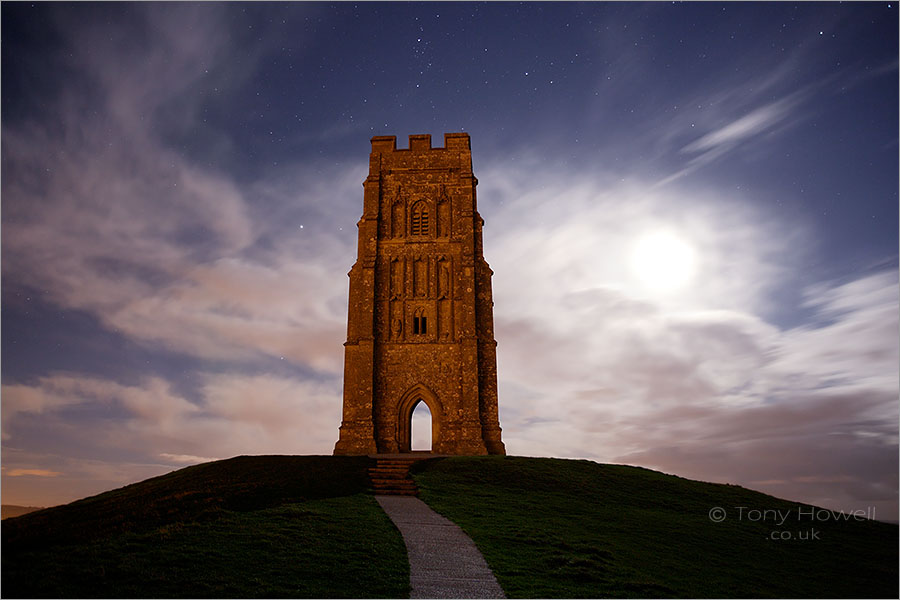 Glastonbury Tor, Night