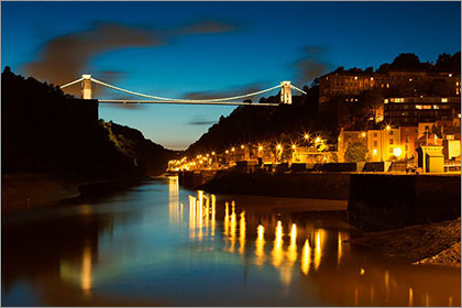 Clifton Suspension Bridge Lights