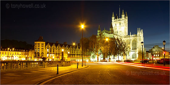 Bath Abbey, Night