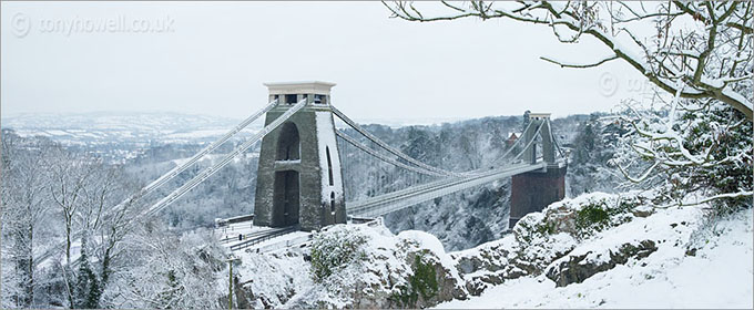 Clifton Suspension Bridge, Snow